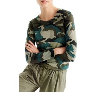 J.Crew Camo Tippi Pullover Wool Sweater